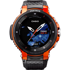 CASIO PRO TREK SMART WSD-F30-RGBAE Montre connectée Homme, black/orange/grey